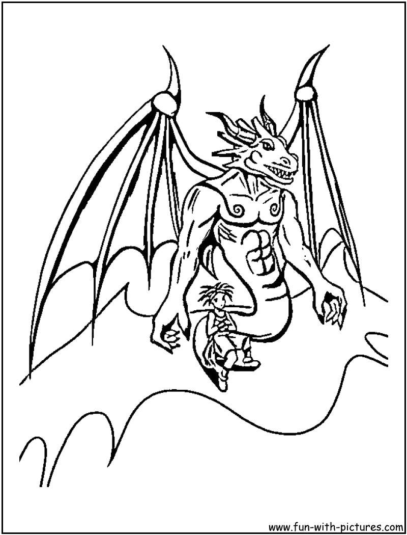 800x1050 Blue Dragon Coloring Pages