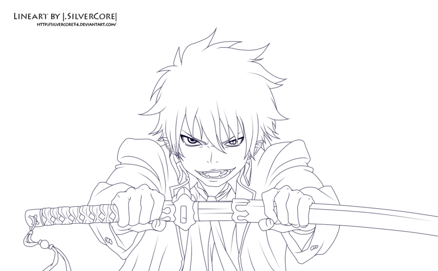 900x557 Rin Blue Exorcist Coloring Pages Sketch Coloring Page