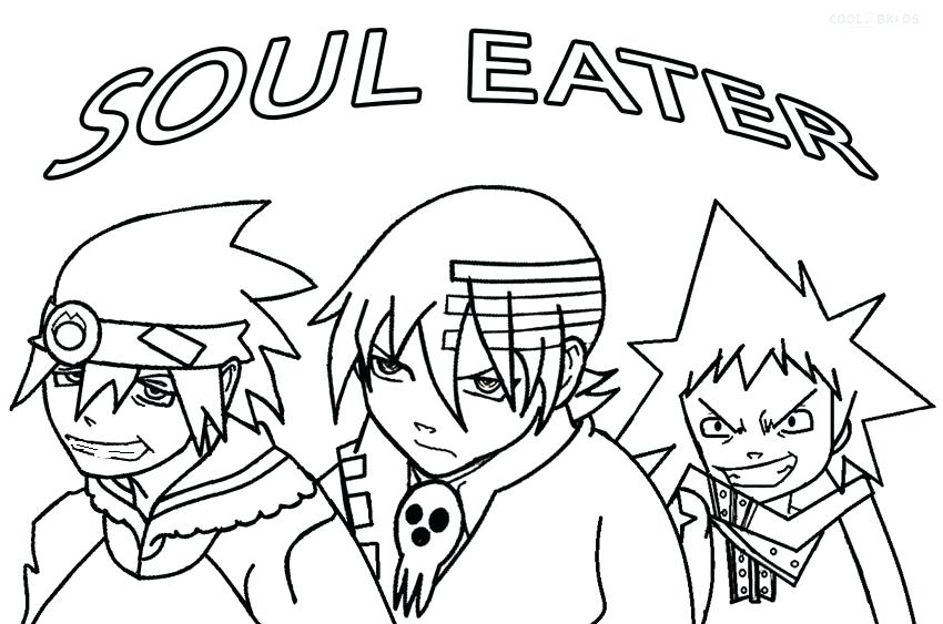850x563 Soul Eater Coloring Pages Free Soul Eater Coloring Pages Crona