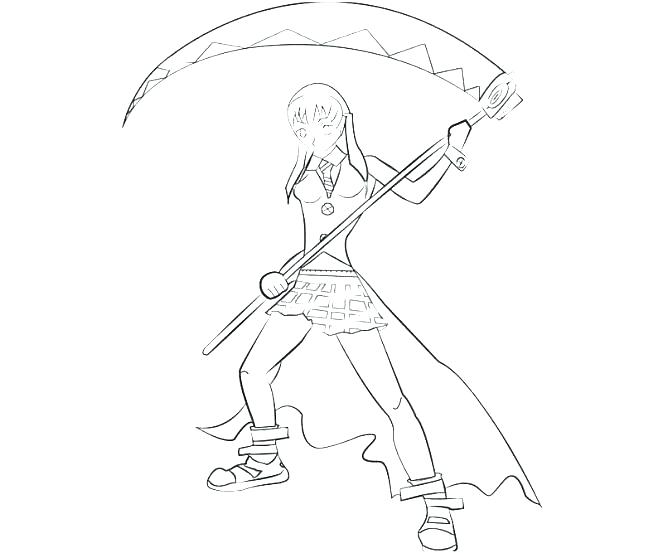 663x553 Soul Eater Coloring Pages Soul Eater Coloring Page Pages Images