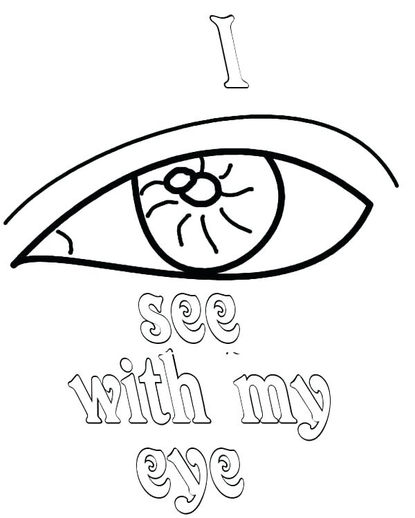 600x750 Eyes Coloring Page Eye Coloring Page Eyes I See With My Eyes