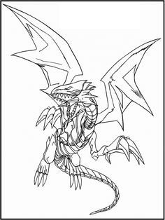 236x314 Yu Gi Oh Blue Eyes White Dragon Coloring Picture For Kids