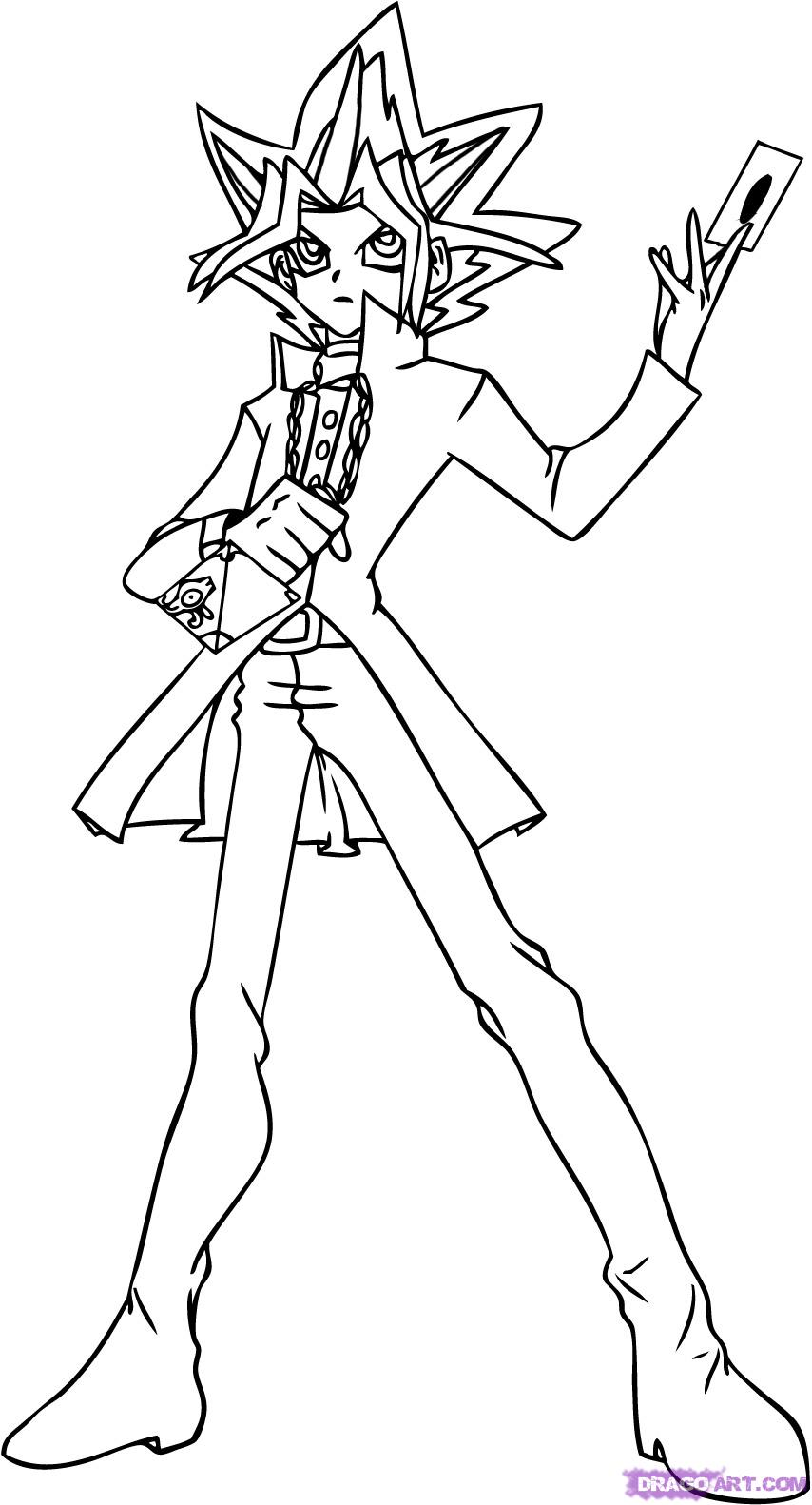 854x1582 Yu Gi Oh Coloring Page Coloring Pages Of Epicness