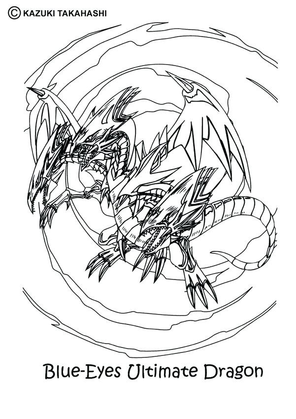 601x850 Yugioh Coloring Page Coloring Pages Together With Oh Blue Eyes