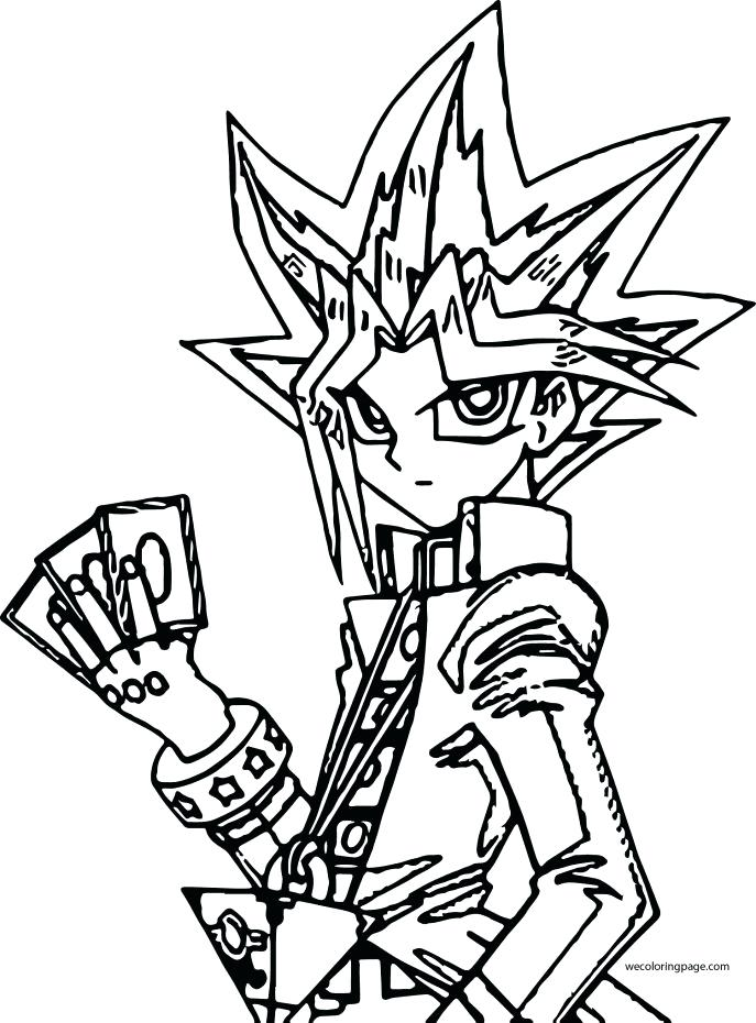 687x930 Yugioh Coloring Pages