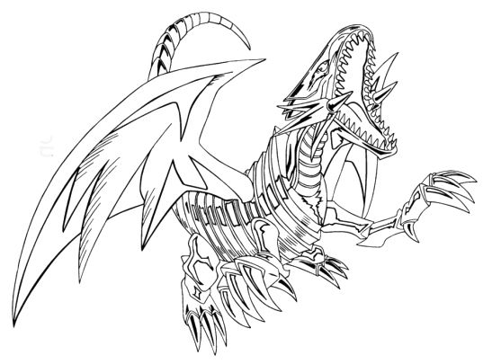 537x405 Blue Eyes White Dragon Coloring Pages