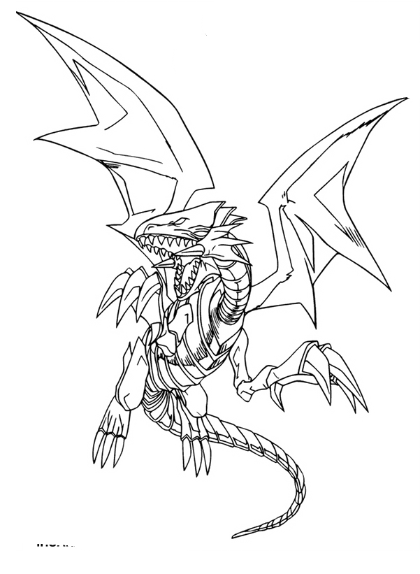 601x821 Blue Eyes White Dragon Coloring Pages