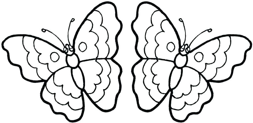 1024x498 Coloring Page Of Butterfly Butterfly Coloring Pages Free Butterfly