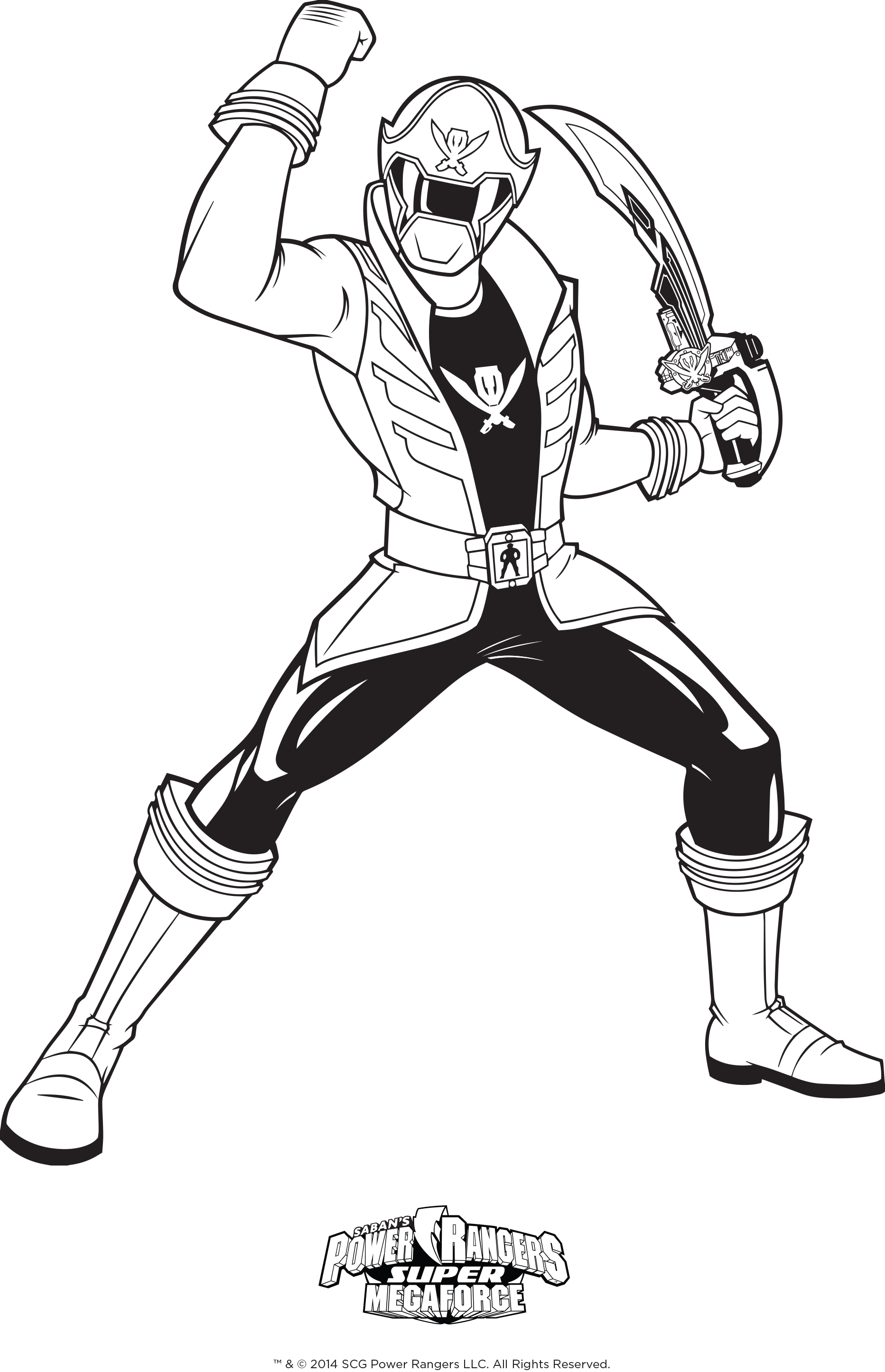 Blue Power Ranger Coloring Pages At Getdrawings Com Free For