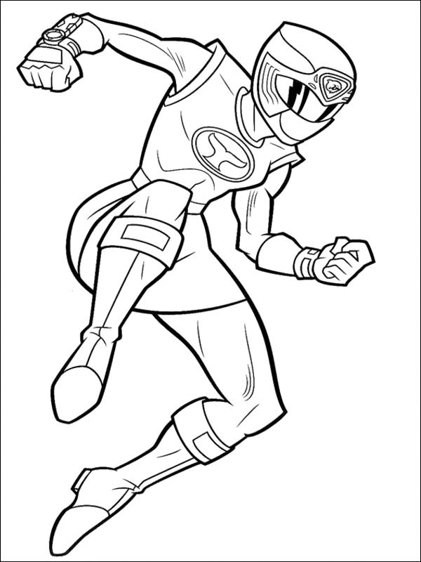 600x800 Power Ranger Coloring Pages