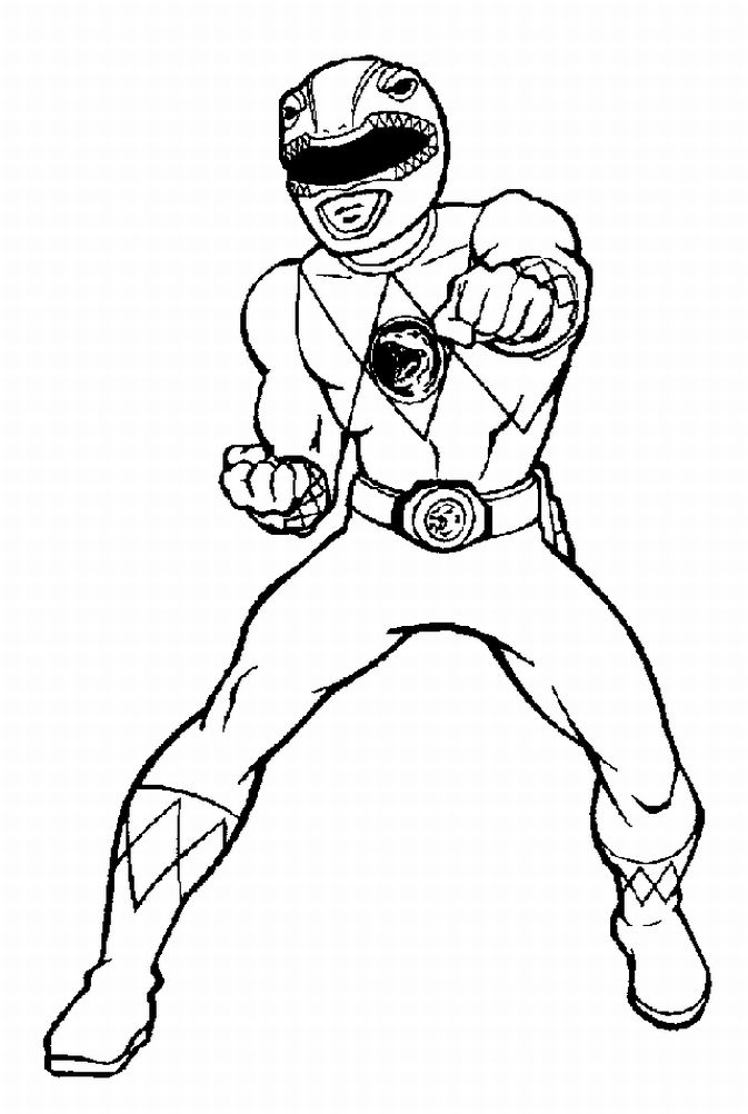 673x1002 Power Rangers Coloring Pages