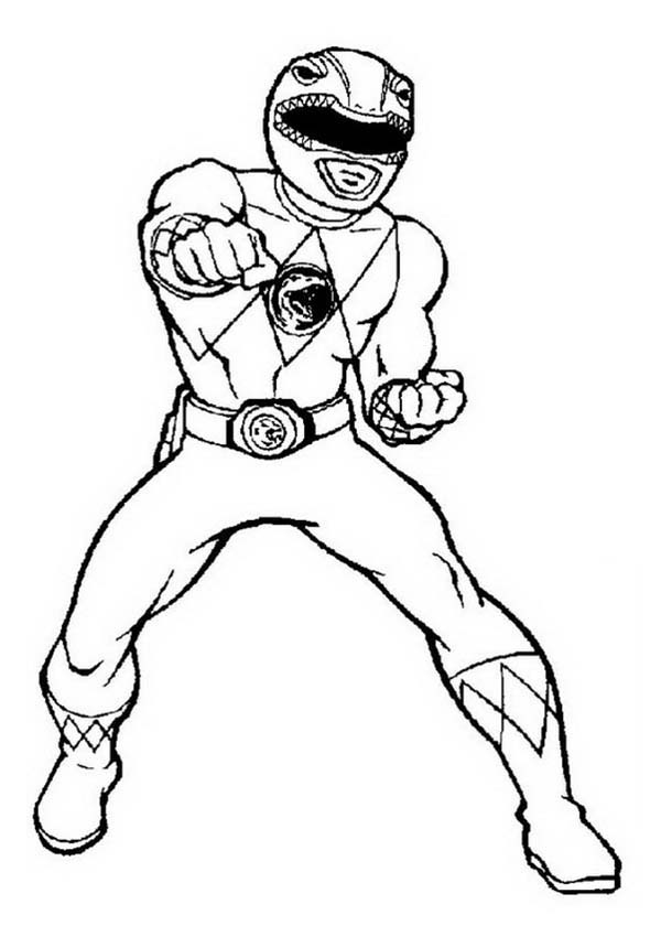 600x840 Power Rangers Deathly Punch Coloring Page Color Luna