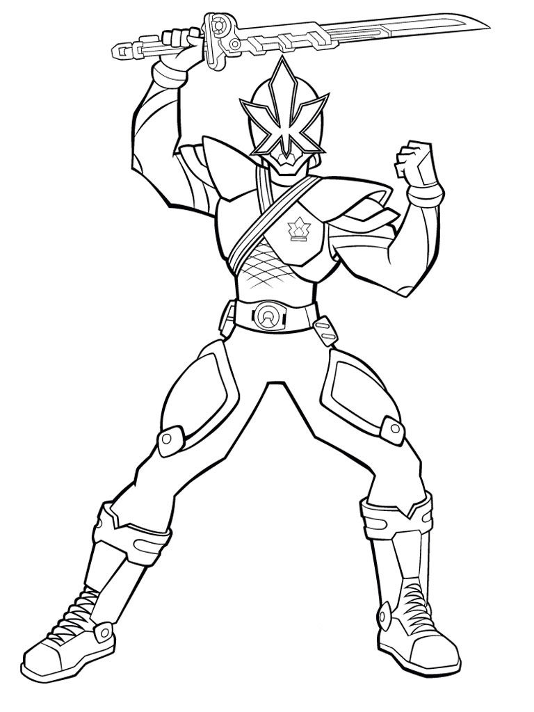 768x1024 Blue Power Ranger Coloring Pages