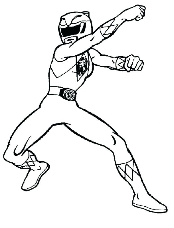 610x799 Red Power Ranger Coloring Page