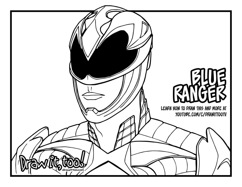 1024x791 Sensational Power Rangers Coloring Pages Blue Ranger Movie