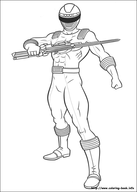 567x794 Amazing Red Ranger In Power Rangers Super Samurai Coloring Page