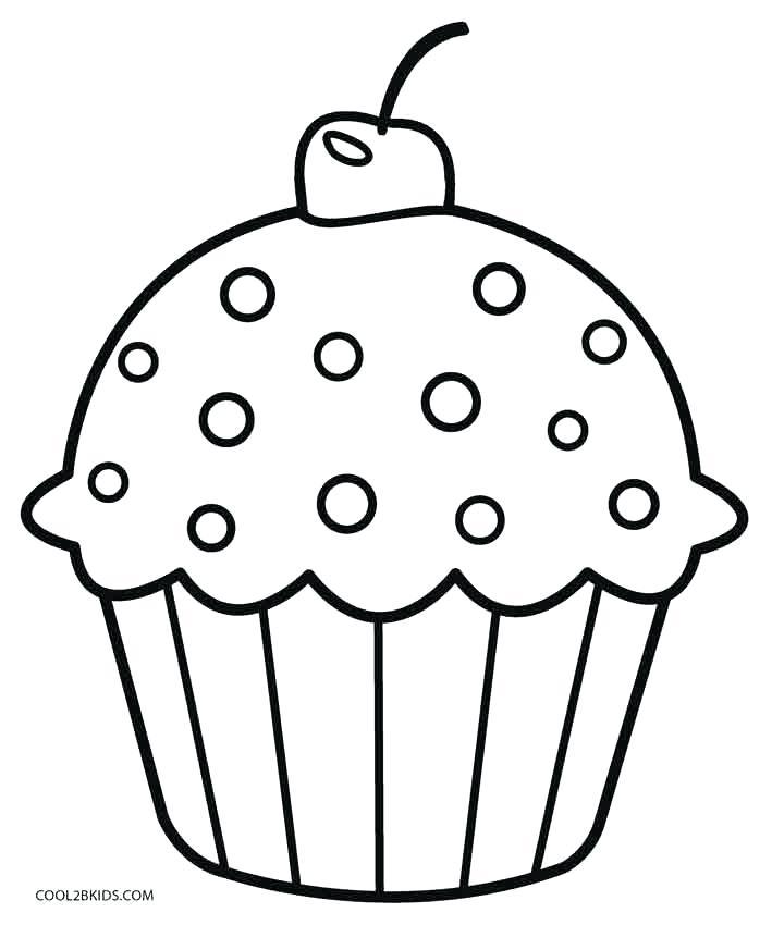 709x850 Inspirational Cupcake Coloring Coloring Free Cupcakes Coloring
