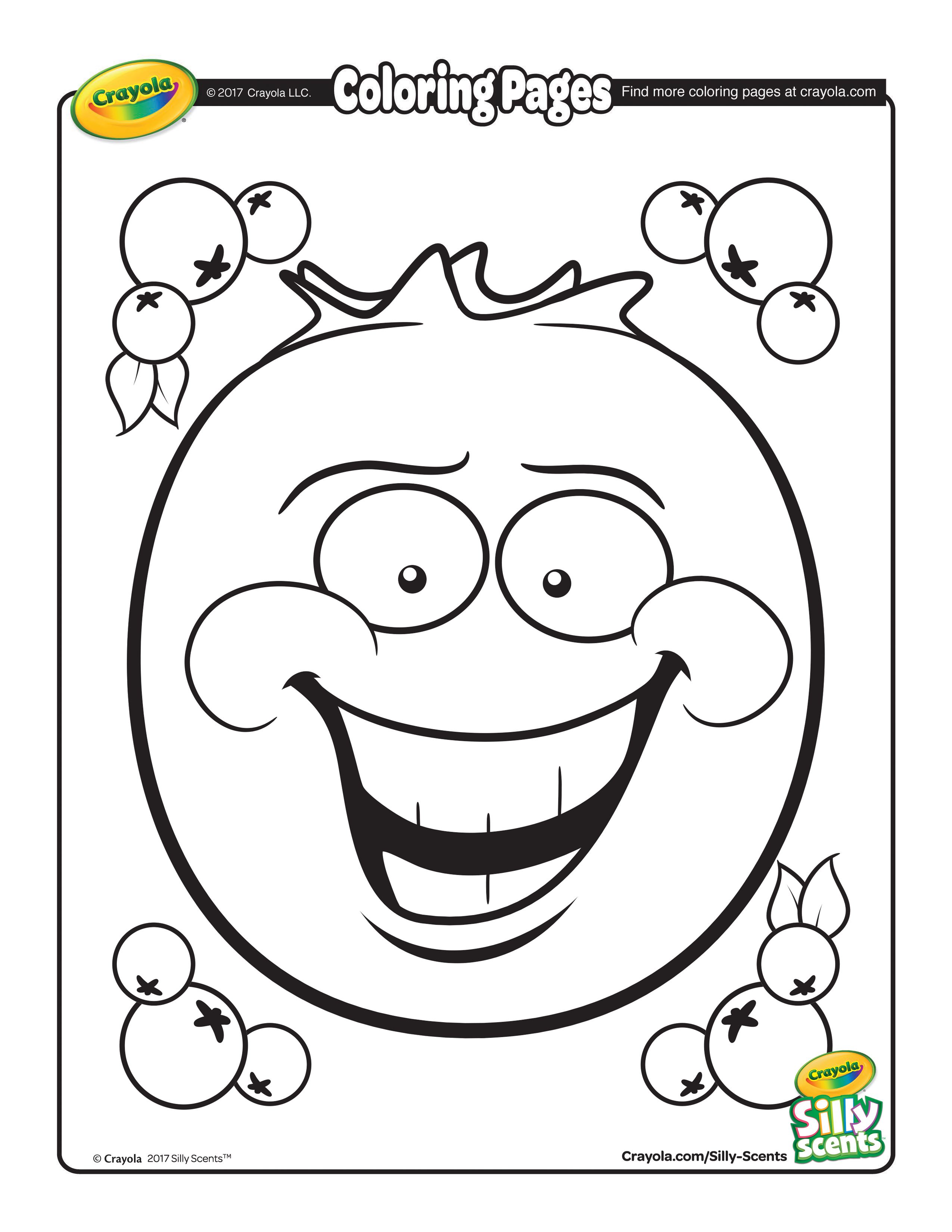 2550x3300 Silly Scents Blueberry Coloring Page