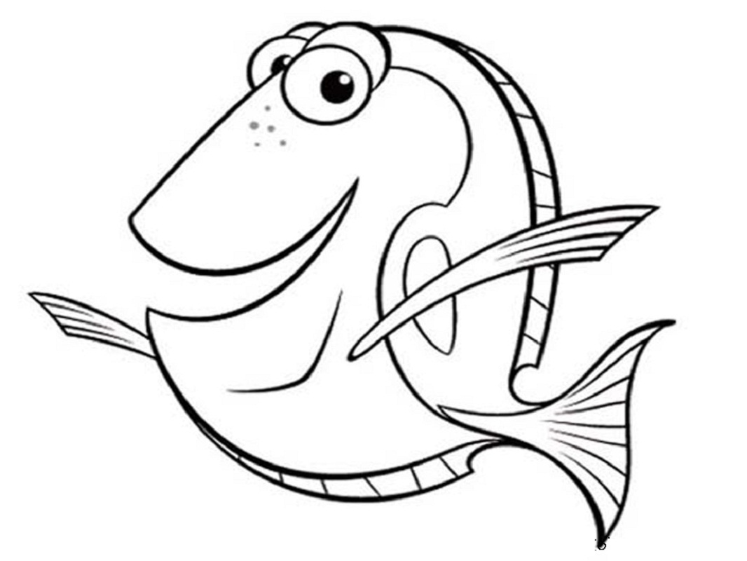 1066x800 Fish Picture To Color