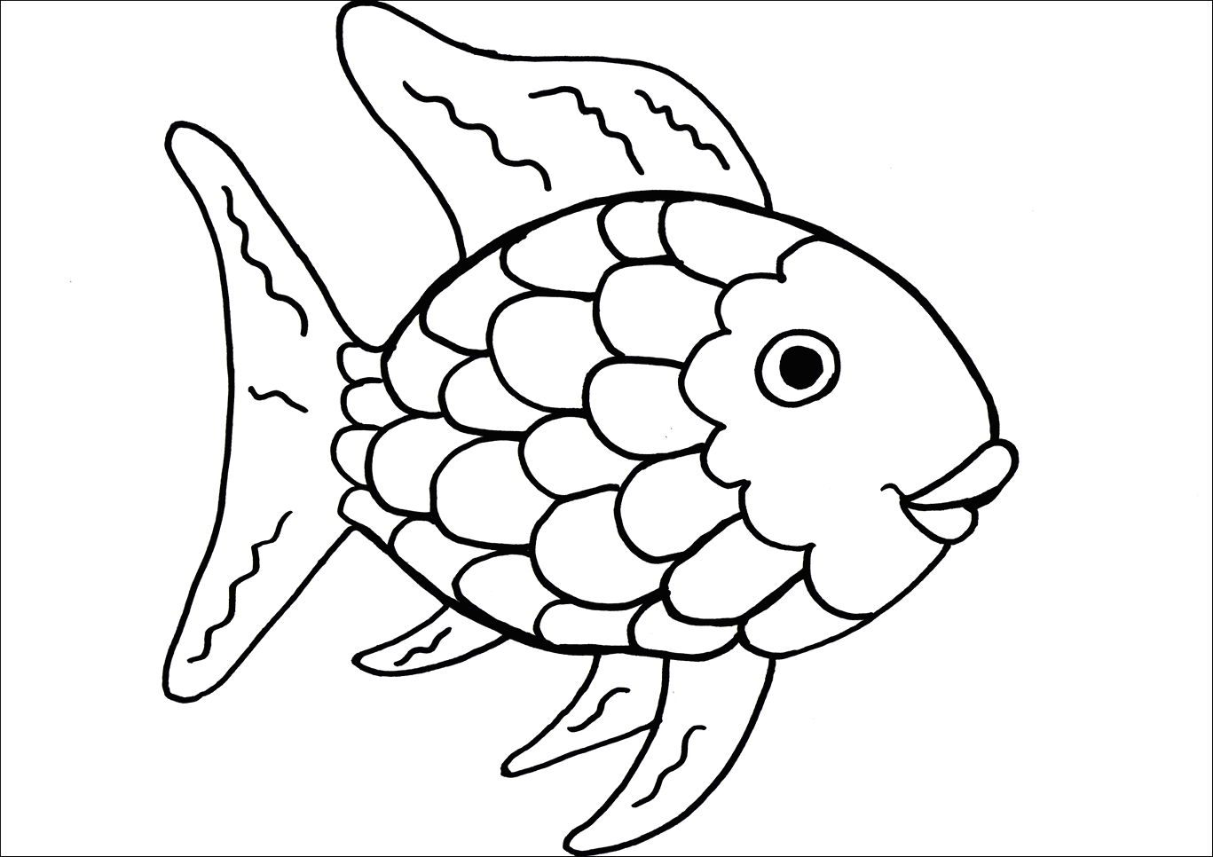 1367x966 Good Realistic Fish Coloring Pages Pic Unknown Resolutions High