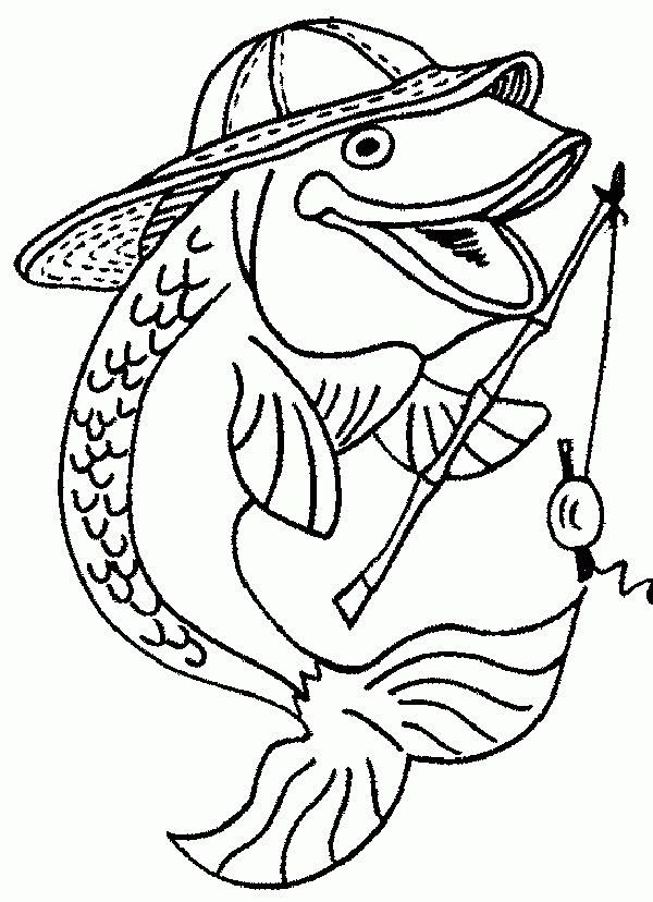 600x828 Incredible Fisherman Coloring Pages Almost Inspiration Article