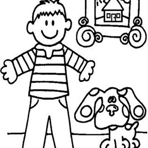 Blues Clues Printable Coloring Pages At Getdrawings Com Free For