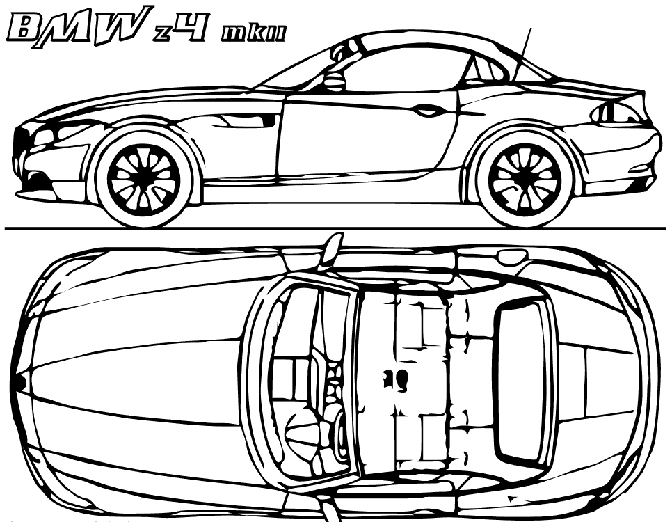 966x750 Bmw Concept Car Coloring Page Coloring Book