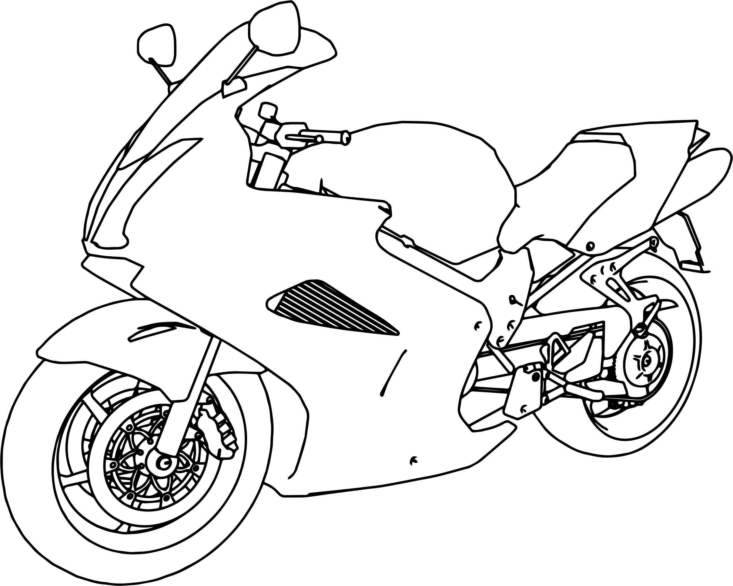 2418x1934 Appealing Bikes Honda Vfr Interceptor Motorcycle Coloring Page