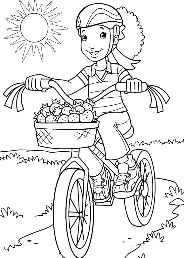 600x840 Bmx Bike Coloring Pages Bike Coloring Page Drawn Bicycle Colouring