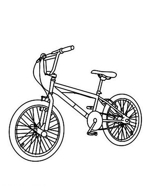 600x775 Bmx Bike Coloring Pages Color Bros