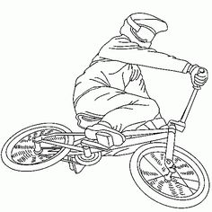 236x236 Bmx Bike Colouring Pictures Printable Coloring Pages