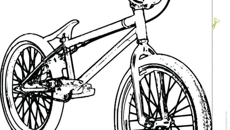 750x425 Bmx Coloring Coloring Page Printable Bmx Colouring Pages