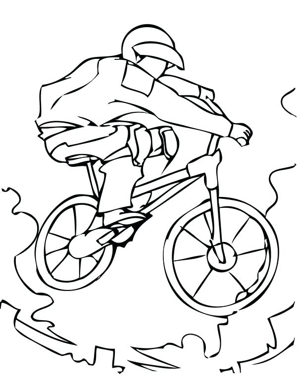 600x776 Bmx Printable Coloring Pages Extreme Sport Bicycle Coloring Page