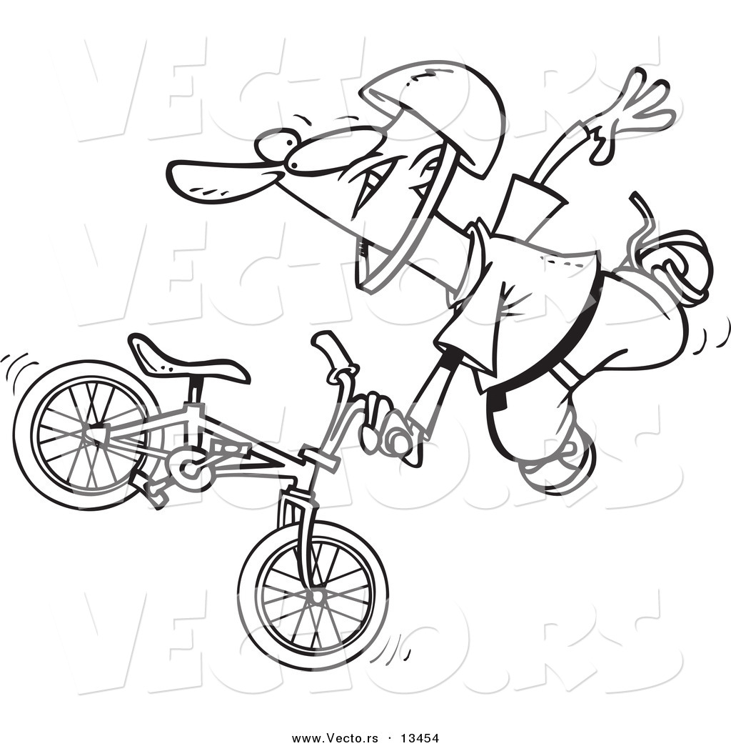 1024x1044 Drawn Biker Bmx Bike