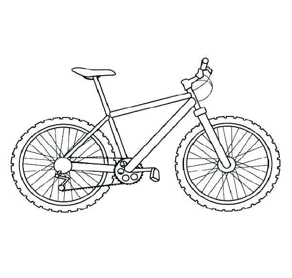 600x573 Free Bmx Bike Coloring Pages Bicycle Coloring Pages Kids Bike