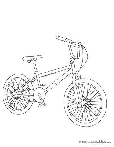 364x470 Bmx Bike Color In Coloring Page