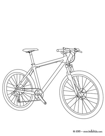 364x470 Mountain Bike Coloring Pages