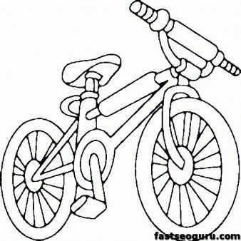338x338 Printable Bike Bmx Coloring Page For Kids Coloring Sheets
