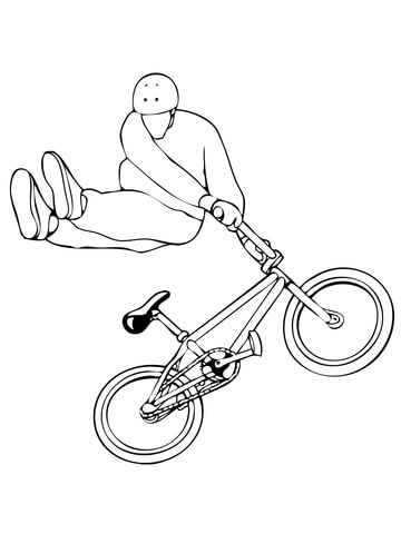 360x480 Tail Whip Bmx Coloring Page