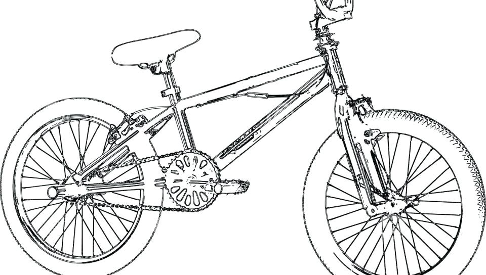 960x544 Bicycle Coloring Pages