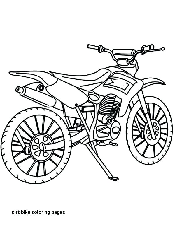 600x775 Bike Coloring Pages How Draw Dirt Bike Coloring Page How