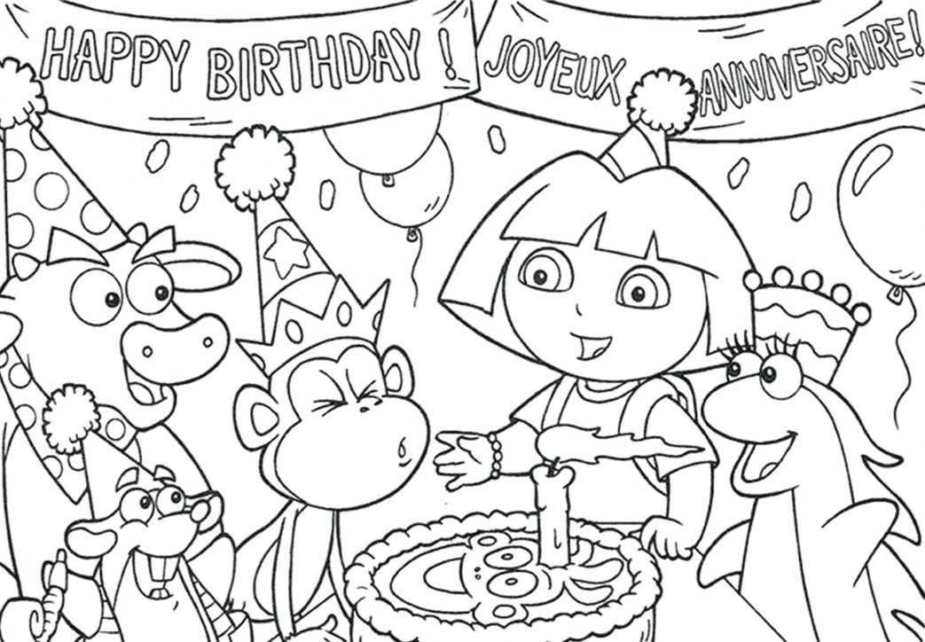 1043x724 Dora And Friends Coloring Pages Nick Jr Playing Board Game