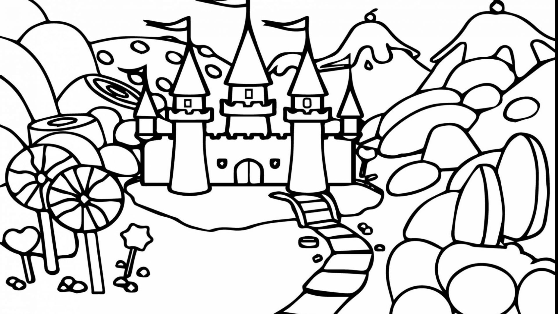 1920x1080 Online Candyland Coloring Pages About Remodel Free Printable Page