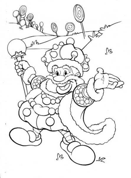 444x600 Candyland King Candy Coloring Page