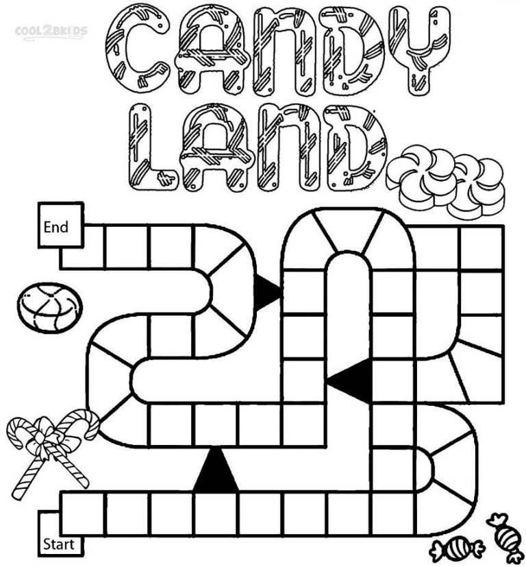 768x827 Board Game Coloring Pages New Printable Candyland For Kids