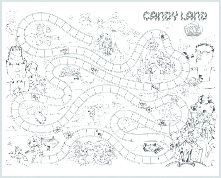 755x607 Candyland Coloring Pages Awesome Coloring Sheets Online Board Game