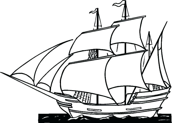 728x521 Coloring Pages For Adults Flowers Boats Pier With Boat Colouring