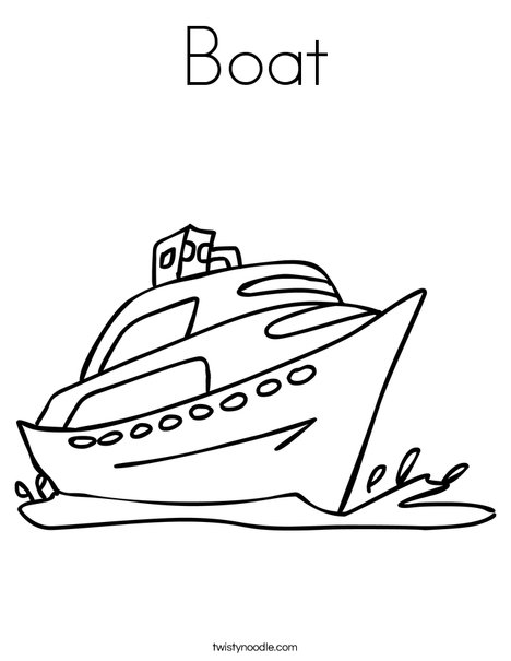 468x605 Boat Coloring Page