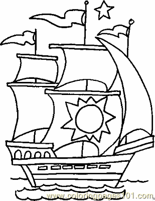 309x400 Boat Coloring Page Copy Coloring Page