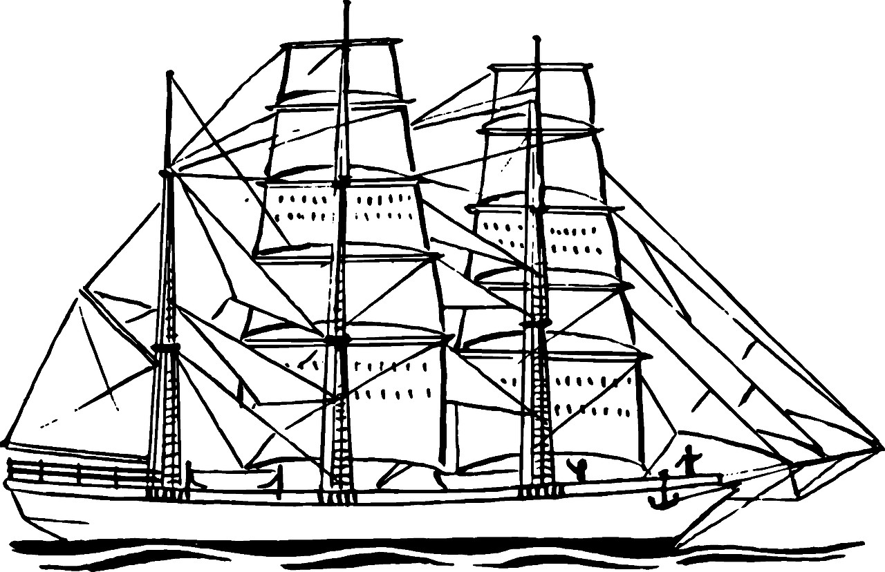 1280x828 Boat Coloring Pages